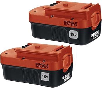 2-Pk. Black & Decker Double Pack 18V Nicd Battery