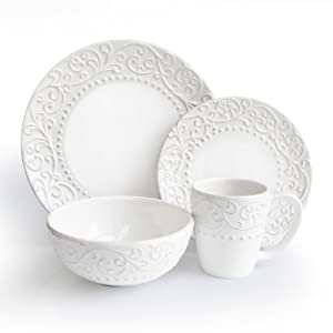 American Atelier Bianca White 16-Piece Dinnerware Set by American Atelier