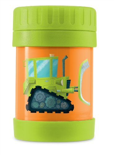 Crocodile Creek Bulldozer Insulated Food Jar