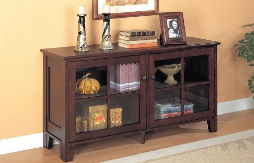 Cheap Contemporary Cappuccino Finish Console Table / TV Stand (VF_AZ00-28420×27989)