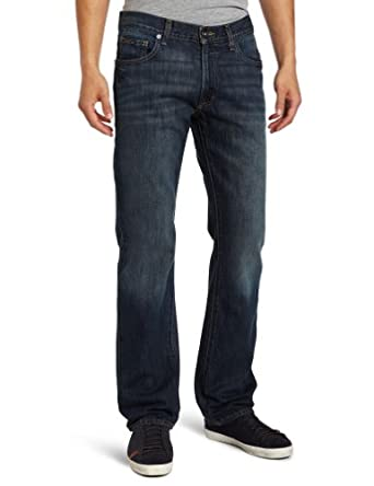 Calvin Klein Jeans Men's Dark Cerulean Straight Jean in Dark Wash, Dark Wash, 33x30