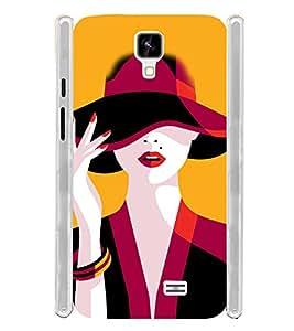Fantasy Girl Soft Silicon Rubberized Back Case Cover for Intex Aqua Y2 :: Intex Aqua Y2 1GB