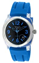 TKO ORLOGI Unisex TK548-BBL Milano Remixed Plastic Case and Blue Rubber Strap Watch