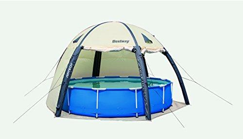 Bestway 58375 Spa Dome Abris Haut pour Piscine Transparent 72...