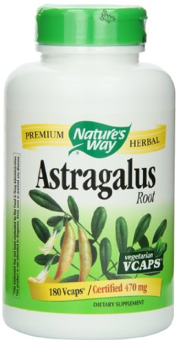 Nature's Way Astragalus Root, 470 mg, 180 Vcaps (Astragalus Extract compare prices)