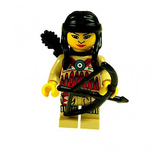 1 x Lego System Figur Indianer Frau beige rot