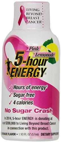 Living Essentials 5-Hour Energy Nutritional Drink Bottles, Pink Lemonade, 12 Count