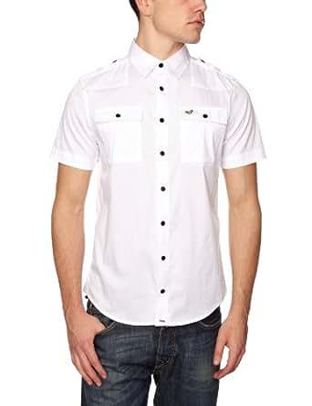 Voi Jeans Heyside Plain Men's Shirt White Medium