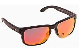 Oakley Holbrook Polarized Sunglasses-51/Matte Black/Ruby Irid-OS