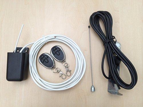 Set 2x Handsender 2Kanal Empfänger mit Antenne für Torantrieb Rolltor Garagentor Drehtorantrieb