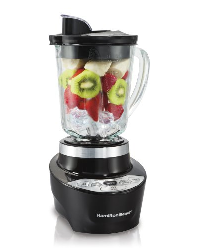 Hamilton Beach Smoothie Smart Blender with 5 Speeds & 40 oz Glass Jar, Black (56206) (Patented Blender compare prices)