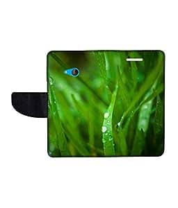 KolorEdge Printed Flip Cover For Microsoft Lumia 540 -Multicolor (50KeMLogo10905Lumia540)