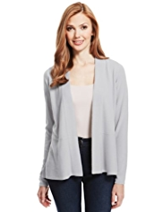 M&S Collection Cashmilon™ Open Front Peplum Cardigan