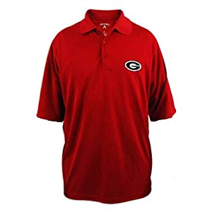 Georgia Bulldogs Mens Antigua Exceed Desert Dry Red Polo by Antigua