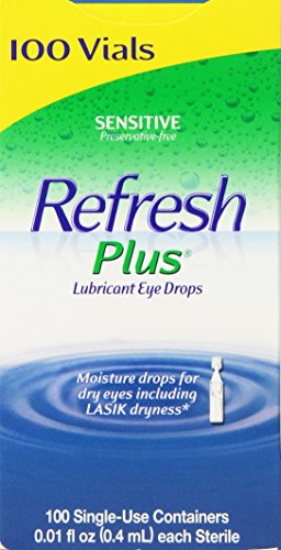 Allergan Refresh Plus Lubricant Eye Drops Single-Use Vials - 100 ct (Refresh Optive Preservative Free compare prices)