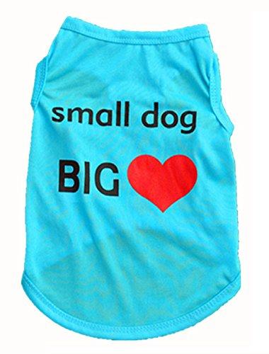 New Qualified Pet Fashion Summer Cute Dog Pet Vest Puppy Printed Cotton T Shirt dig6415 (Blue, L) (Daisy Duke Fancy Dress)