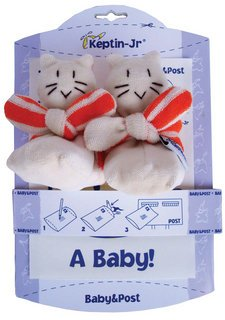 Organic Cotton Cat Rattle Booties - 1