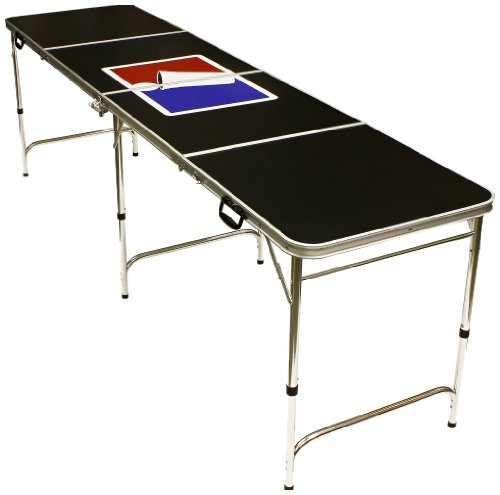 Sale!! Sports Official Beer Pong Table - 8 Feet with Bottle Opener, Ball Rack, & 6 Pong Balls!