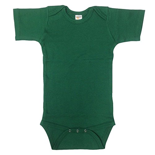 Unisex Baby Plain Blank Solid Cotton Short Sleeve Infant Bodysuit Onesie
