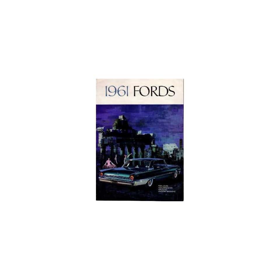 1961 Ford Sales Brochure Literature Book Piece Advertisement Specs Options