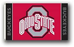 Ohio State Buckeyes 3 Ft. x 5 Ft. flag w/grommetts - NCAA