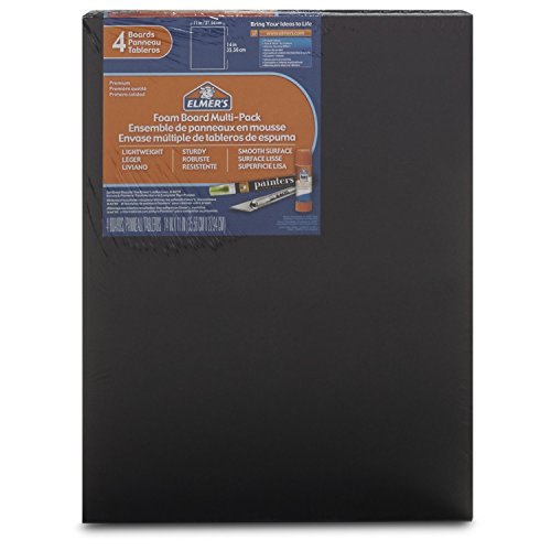 Elmer's Foam Boards, 11 x 14 Inches, Black/Black Core, 4-Count (950024) (Foam Presentation Board compare prices)