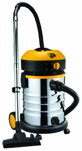 JCB 70341 Wet and Dry Vacuum Cleaner 30 Litre, Stainless Steel