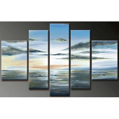 SR Asaka Clouds Sky 5 pcs/set 100% Hand Painted Oil Paintings Home Decoration With Wood Framed Artwork And Read To Hang Modern Canvas Art Wall Decor