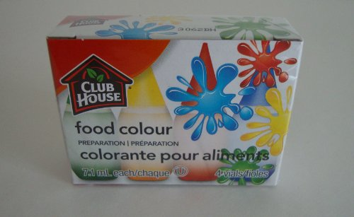 Club House LIQUID FOOD COLORING KIT of 4 colors (0.25 oz each) by McCormick