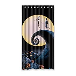 Sysuser Custom Cartoon The Nightmare Before Christmas Jack Window Blackout Curtain / Drape / Panels / Treatment Door Curtain 50x96 Inch