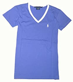Ralph Lauren Sport Womens V-Neck Pony Logo T-Shirt