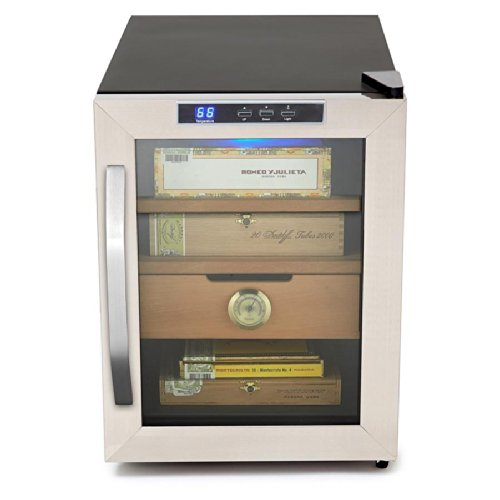 Whynter Stainless Steel 1.2 Cu. Ft. Cigar Cooler Humidor front-549339