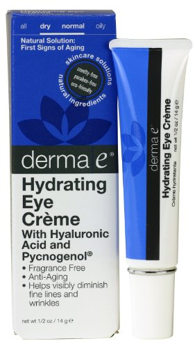 derma e Pycnogenol and Hyaluronic Acid Eye Crème, 0.5 Ounce