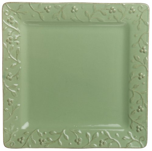 Buy Signature Housewares Chelsea 11-Inch Square Dinner Plates, Honeydew, Set of 6