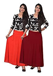 Ace Long Skirt-Meroon,Red