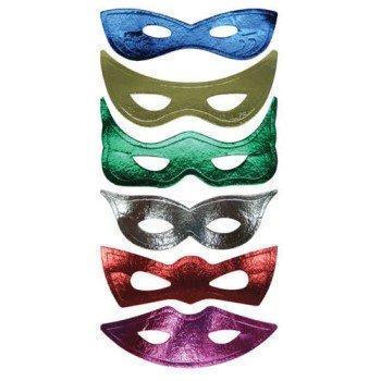Mardi Gras Paper Masks 6 Pack