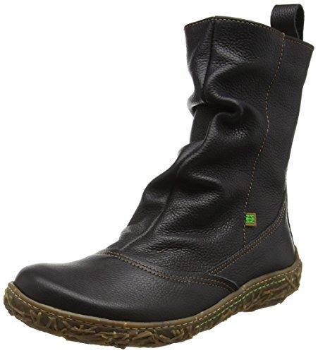 El Naturalista N722 Soft Grain Nido, Stivali a Gamba Larga Donna, Nero (Black N01), 39 EU