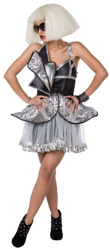 Lady Diva Gaga Womens Costume Silver/Black