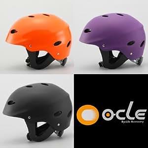 【205】クライミング&ウォータースポーツヘルメット耐水仕様 (オレンジ, S/M(51~56cm)小学生程度)
