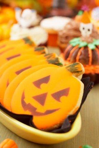 Halloween Jack-o-lantern Cookies - 24