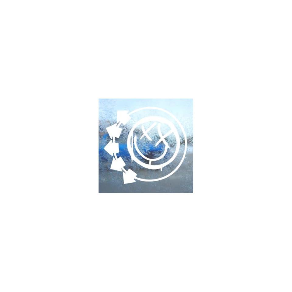 Blink 182 Logo White Decal Car Laptop Window Vinyl White Sticker