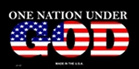 One Nation Under GOD Front License Plate