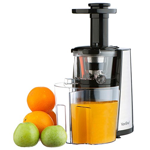 For Sale! VonShef 150W Slow Masticating Single Auger Juicer Extractor - Yields more Juice & is E...