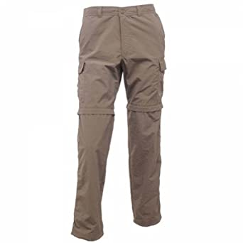 Regatta Lattice Mens Walking Hiking Zip Off Trousers Clay 40Wx33L RMJ044