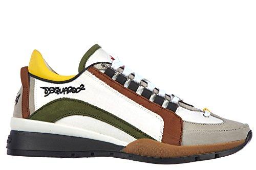 Dsquared2 scarpe sneakers uomo in nylon nuove tessuto tecnico bianco EU 42 S15SN404081