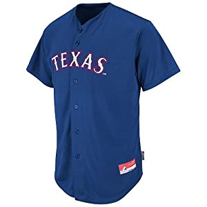 Texas Rangers Full-Button CUSTOM or BLANK BACK Major League Baseball Cool-Base... by Majestic Authentic Sports Shop