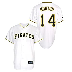 Charlie Morton Pittsburgh Pirates Home Replica Jersey by Majestic by Majestic