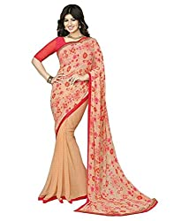 Pushkar Sarees Georgette Saree (Pushkar Sarees_51_Peach)