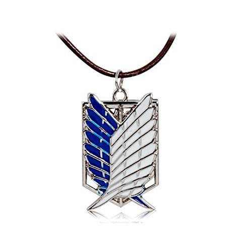 Sky Buddy Attack on Titan Dual Wing Pendant Necklace - 1