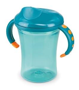 NUK 10255220 Easy Learning 1-2-3 System Cup 2 - Taza con asas (275 ml, boquilla antiderrame, sin bisfenol A), color azul en BebeHogar.com